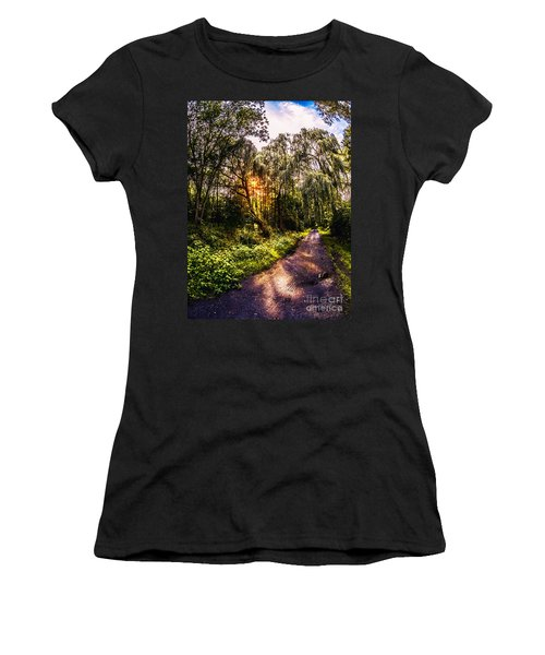 Forest Track Women's T-Shirt (Athletic Fit)