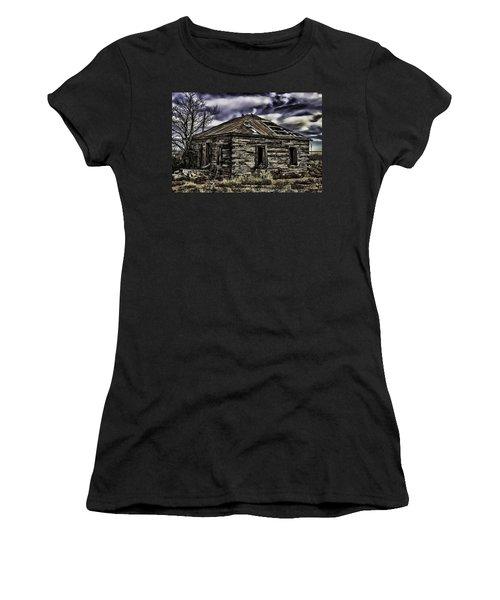 Women's T-Shirt (Junior Cut) featuring the painting Forgotten by Muhie Kanawati