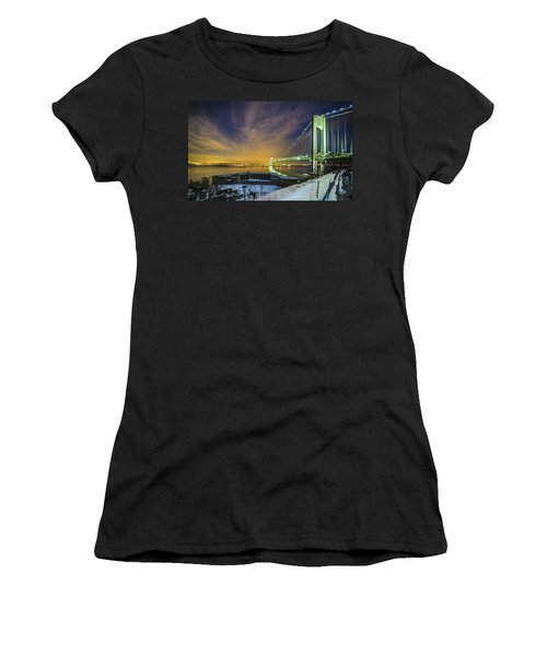 Fort Wadsworth And Verrazano Bridge Women's T-Shirt (Athletic Fit)