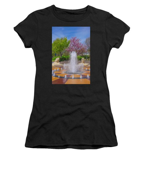 Fountain In Coolidge Park Women's T-Shirt (Athletic Fit)