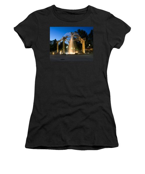 Fountain In Riverfront Park Women's T-Shirt (Athletic Fit)