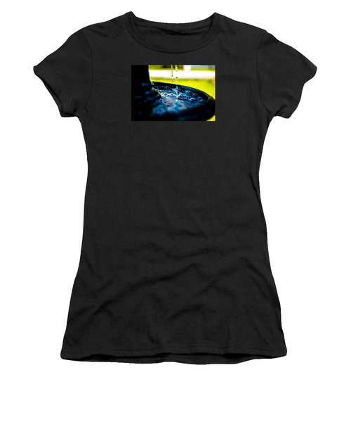 Women's T-Shirt (Junior Cut) featuring the photograph Fountain Of Time by Mez
