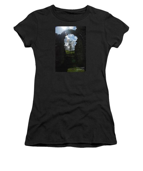 Fountains Abbey Women's T-Shirt (Athletic Fit)