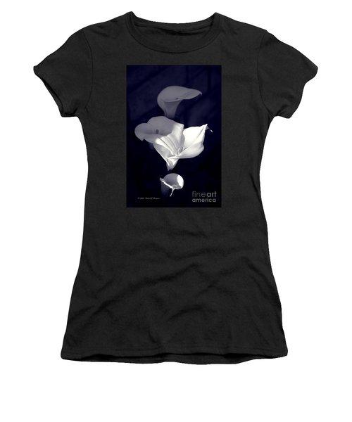 Four Calla Lilies In Shade Women's T-Shirt