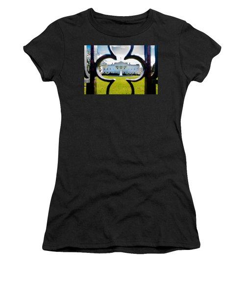 Framed Whitehouse Women's T-Shirt (Athletic Fit)