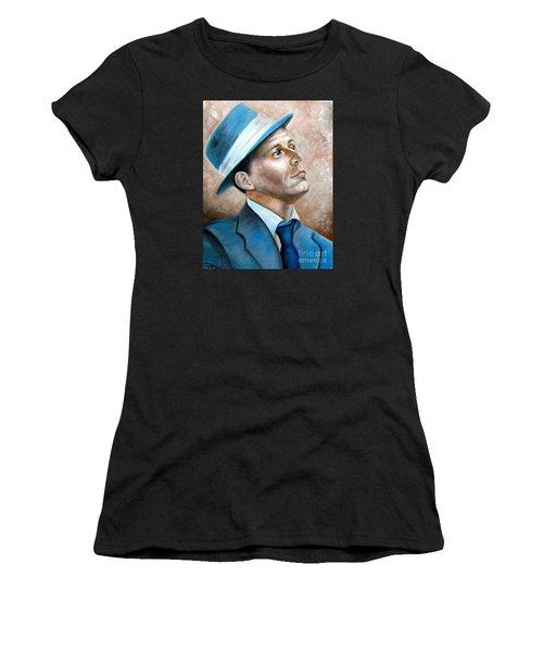Frank Sinatra Ol Blue Eyes Women's T-Shirt (Athletic Fit)