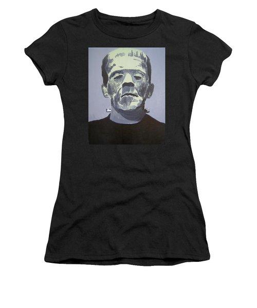 Frankenstein Women's T-Shirt (Junior Cut) by Dan Twyman
