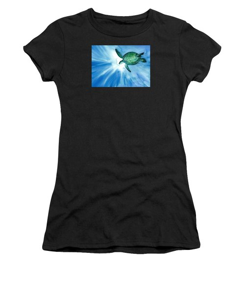 Sea Tutrle 2 Women's T-Shirt (Athletic Fit)