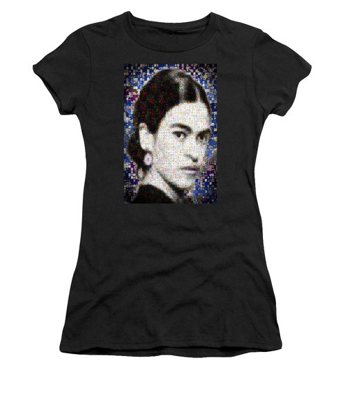 Frida Kahlo Mosaic Women's T-Shirt (Athletic Fit)