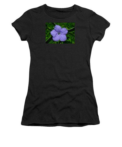 Wild Fringeleaf Ruellia Women's T-Shirt (Junior Cut) by William Tanneberger