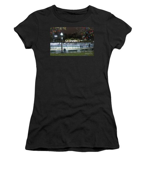 Frog Pond Ice Skating Rink In Boston Commons Women's T-Shirt