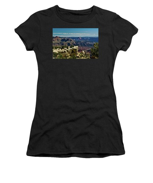 Women's T-Shirt (Junior Cut) featuring the photograph From Yaki Point 2 Grand Canyon by Bob and Nadine Johnston