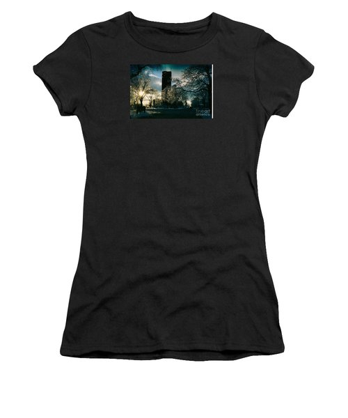 Frosty Sunrise At Tower Park Women's T-Shirt (Athletic Fit)