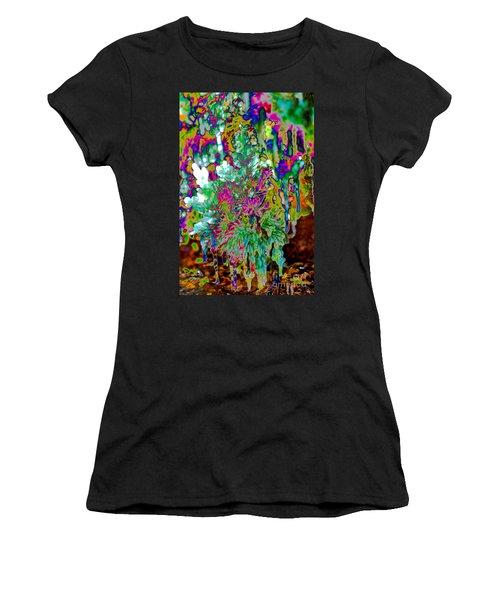 Women's T-Shirt featuring the digital art Frozen Juniper by Mae Wertz