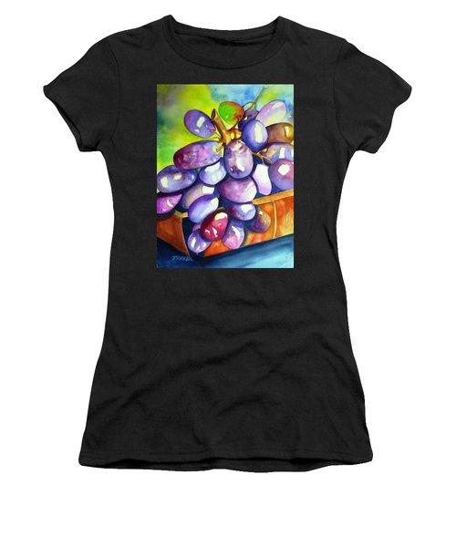 Purple Grapes Women's T-Shirt (Athletic Fit)