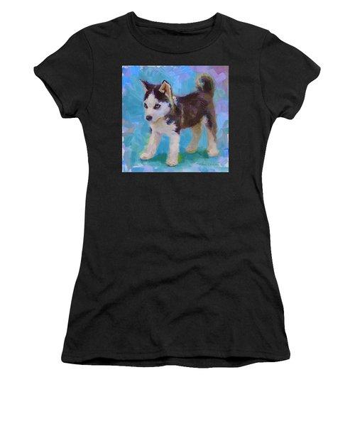Alaskan Husky Sled Dog Puppy Women's T-Shirt
