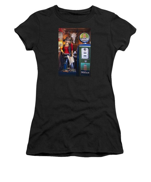 Full Service Route 66 Gas Station Women's T-Shirt (Athletic Fit)