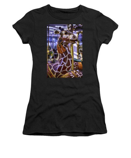 Fun Giraffe Carousel Ride Women's T-Shirt