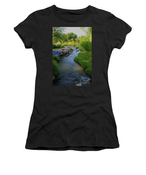 Garden Stream Hdr #9795 Women's T-Shirt (Athletic Fit)