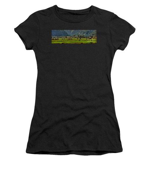 Garden Valley Elk Herd Women's T-Shirt (Athletic Fit)