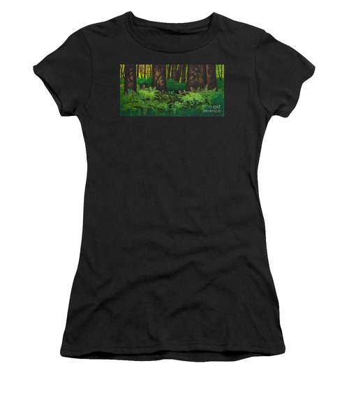 Gathering Among The Ferns Women's T-Shirt (Athletic Fit)