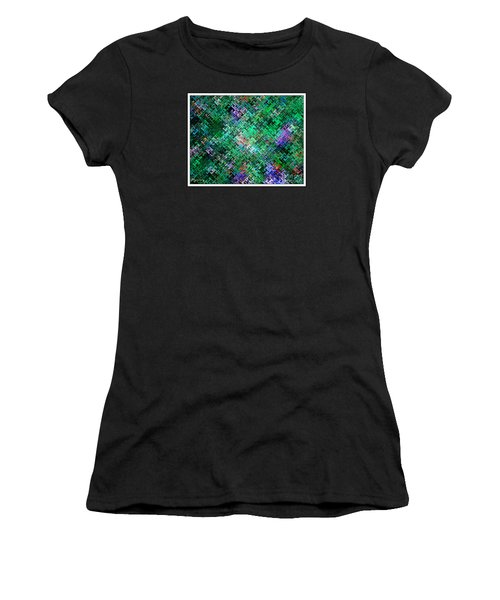 Women's T-Shirt (Junior Cut) featuring the digital art Geometric Abstract by Mariarosa Rockefeller