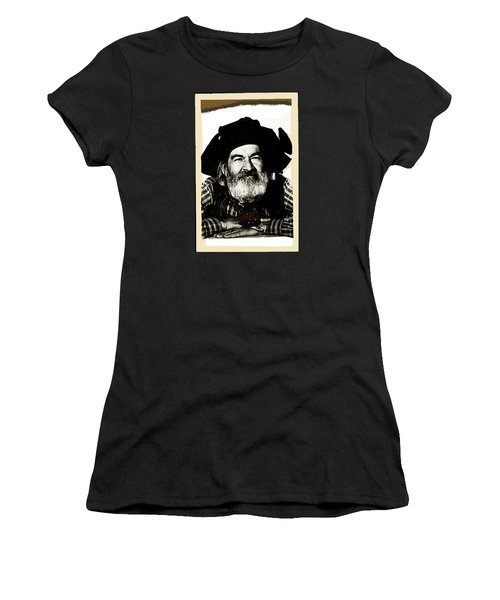George Hayes Portrait #1 Card Women's T-Shirt (Junior Cut) by David Lee Guss