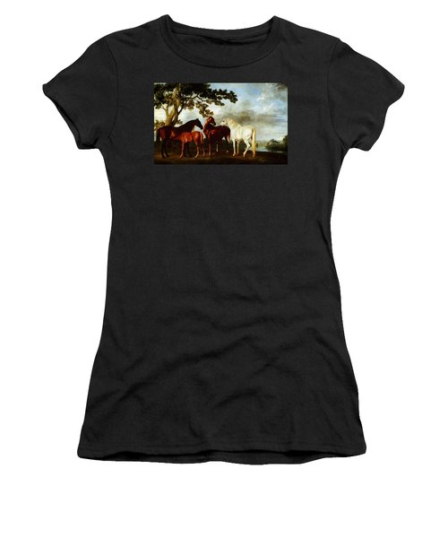 Women's T-Shirt featuring the painting Horses by George Stubbs
