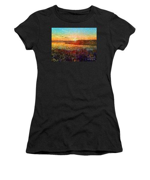 Georgian Bay Sunset Women's T-Shirt (Athletic Fit)