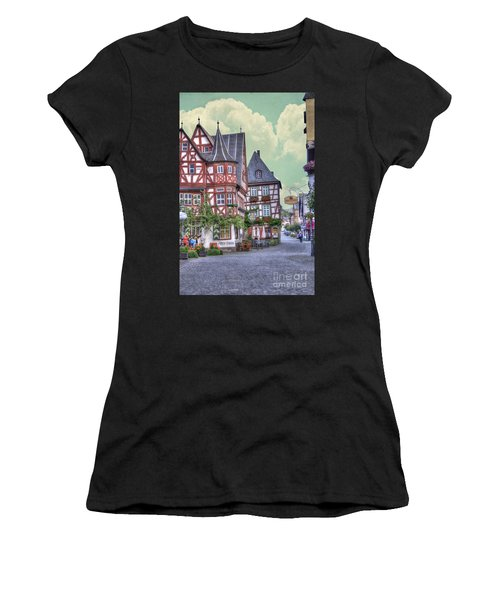 German Village Along Rhine River Women's T-Shirt