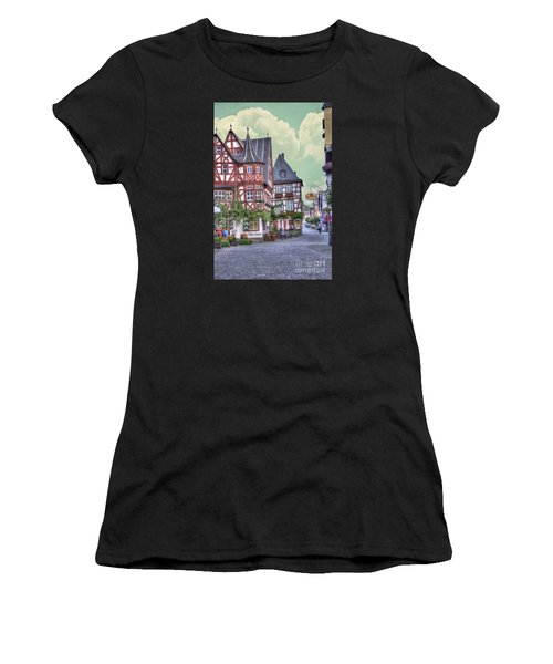 German Village Along Rhine River Women's T-Shirt
