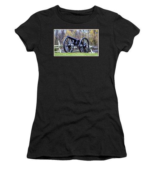 Gettysburg Battlefield Cannon Women's T-Shirt (Junior Cut) by Patti Whitten
