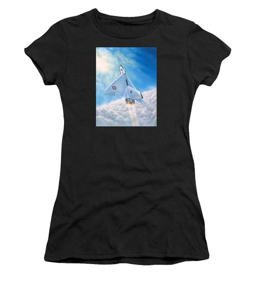 Women's T-Shirt (Junior Cut) featuring the painting Ghost Flight Rl206 by Michael Swanson