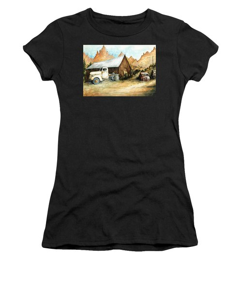 Ghost Town Nevada - Western Art Painting Women's T-Shirt