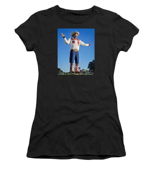 Giant Cowboy Big Tex State Fair Of Texas Women's T-Shirt (Athletic Fit)