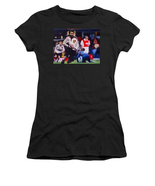 Giggs Goal V Arsenal Oil On Canvas Women's T-Shirt (Athletic Fit)