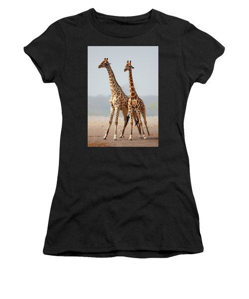 Giraffes Standing Together Women's T-Shirt