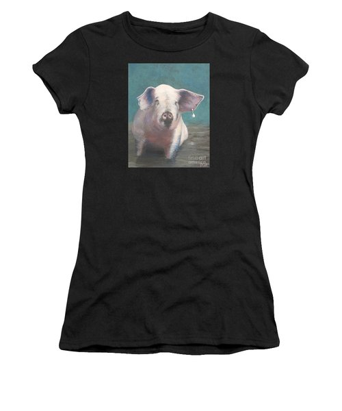 Girl With A Pearl Earring II Women's T-Shirt (Athletic Fit)