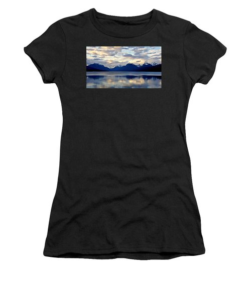 Women's T-Shirt featuring the photograph Glacier Morning by Andrea Platt
