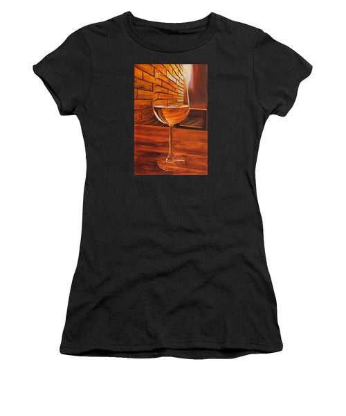 Glass Of Viognier Women's T-Shirt (Athletic Fit)