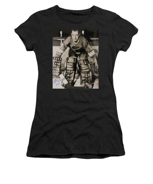Glenn Hall Poster Women's T-Shirt (Athletic Fit)