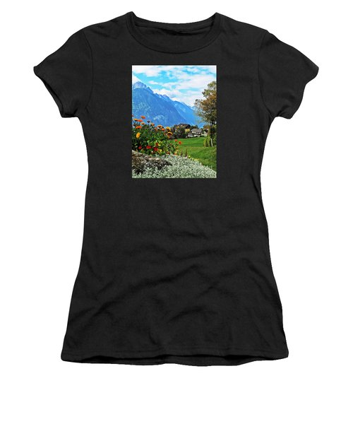 Glorious Alpine Meadow Women's T-Shirt (Athletic Fit)