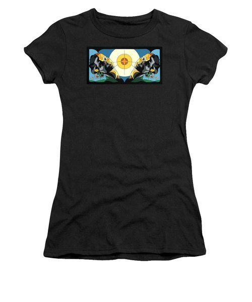 Glow Of Beauty - Painting With Hidden Pictures Women's T-Shirt