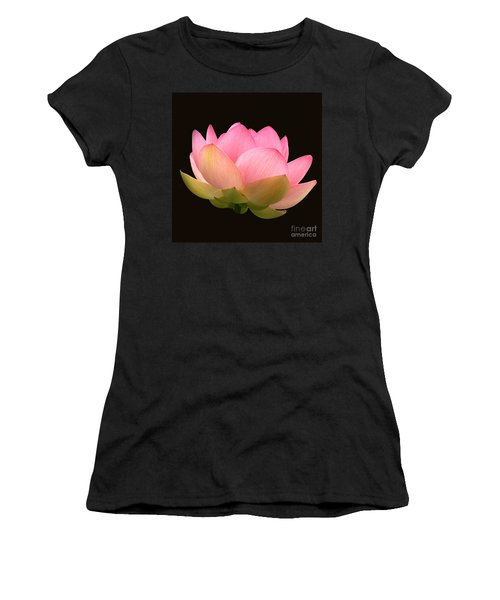 Glowing Lotus Square Frame Women's T-Shirt (Athletic Fit)