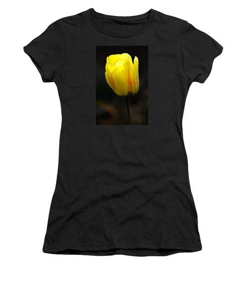 Glowing Tulip Women's T-Shirt (Junior Cut) by Shelly Gunderson