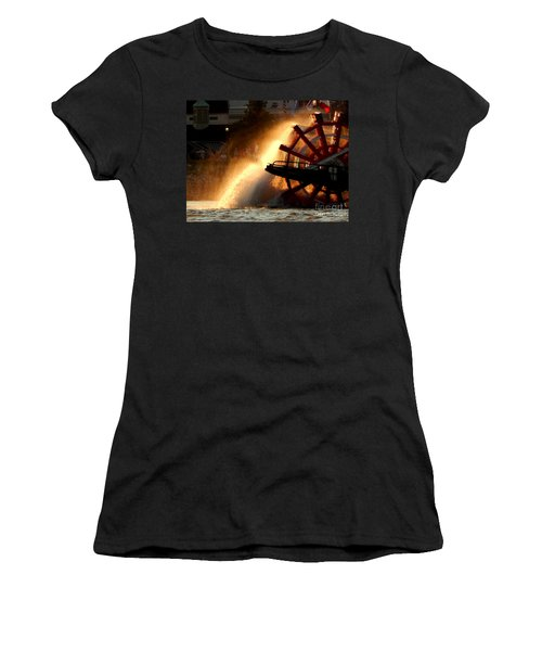 New Orleans Steamboat Natchez On The Mississippi River Women's T-Shirt (Junior Cut) by Michael Hoard