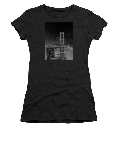 Golden Gate Bridge To Sausalito Women's T-Shirt (Junior Cut) by Connie Fox