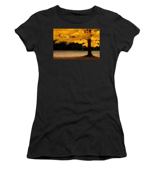 Golden Glow Of Autumn Fall Colors Women's T-Shirt (Athletic Fit)