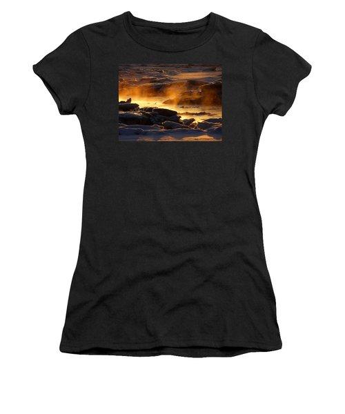 Golden Sea Smoke At Sunrise Women's T-Shirt (Junior Cut) by Dianne Cowen