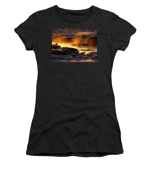 Golden Sea Smoke At Sunrise Women's T-Shirt (Athletic Fit)